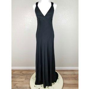 NWT J. Crew Silk Avery Gown Dress Black 6